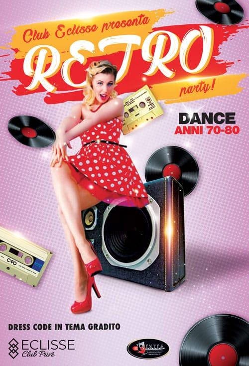 Retro Party eclisse club prive Milano