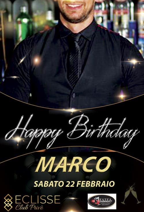 COMPLEANNO-MARCO barman eclisse club monza