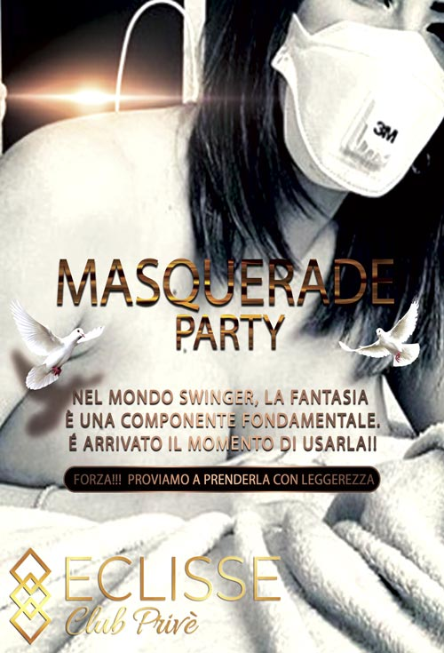 mascherina party club eclisse prive milano