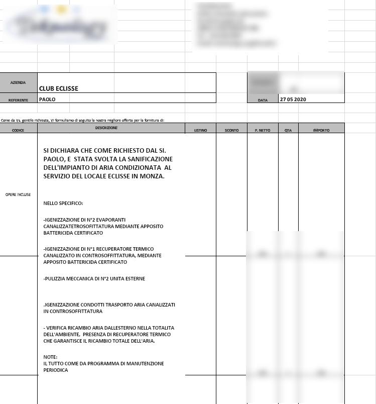 certificazione aria cond.
